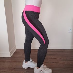 Hot Pink/Grey Workout Pants